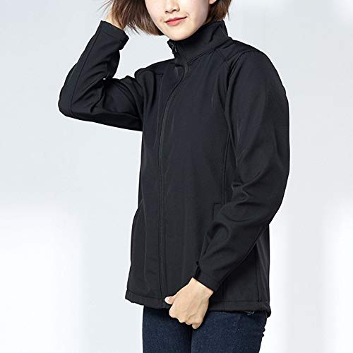 Larga Para Liso Mujer Npradla Alto Negro Casual Cuello Abrigo Manga SwqYfaRq