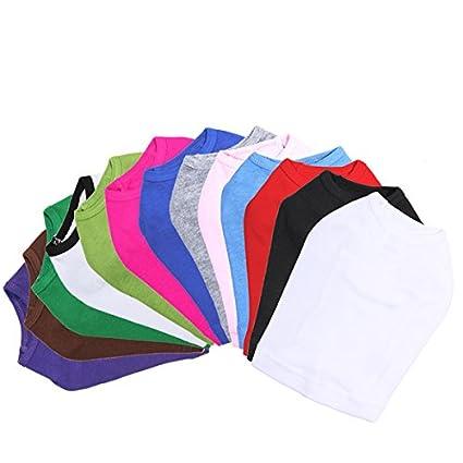 Amazon Com Plain Blank Dog Tank T Shirt Large Selection Of