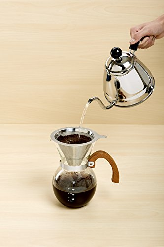 Hic Pour Over Coffee Maker : HIC Pour-Over Coffee Maker Borosilicate Glass with Bamboo - Import It All