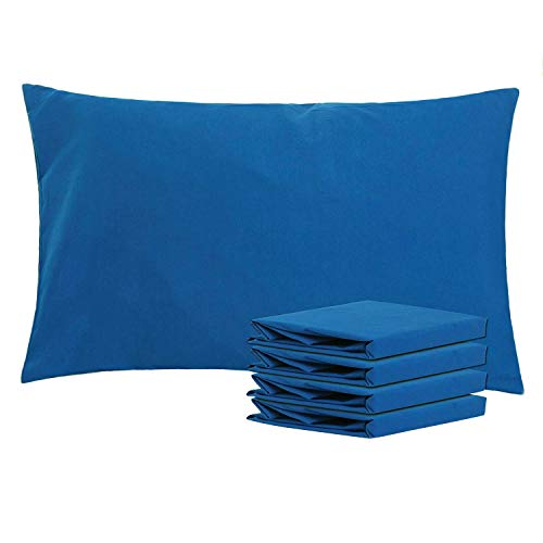NTBAY Queen Pillowcases Set of 4, 100% Brushed Microfiber, Soft and Cozy, Wrinkle, Fade, Stain Resistant, Queen, Royal Blue