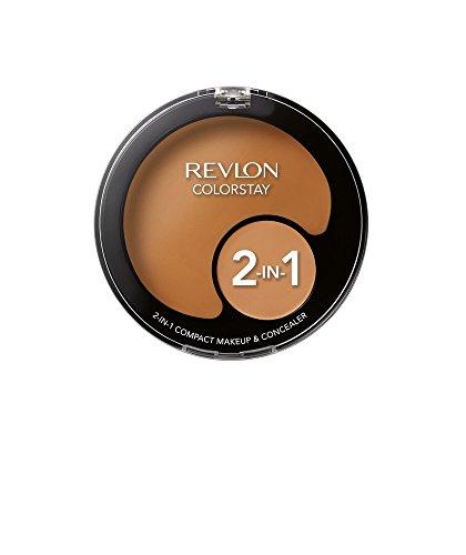 Revlon Colorstay Makeup Foundation (Revlon ColorStay 2-in-1 Compact Makeup & Concealer, Caramel)