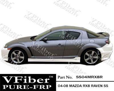 2004-2008 Mazda RX8 4dr Body Kit Raven Side (Vfiber Side Skirts)