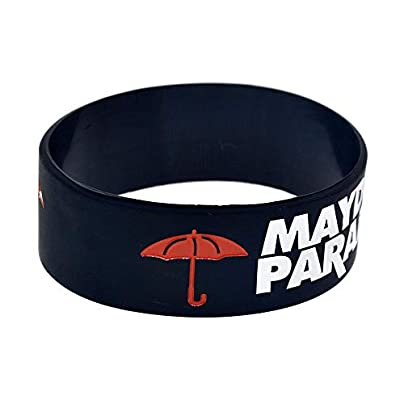 CWLLWC Silicone Bracelet Silicone Wristbands with Sayings lsquo MayDay Parade rsquo Rubber Bracelets for Men Encouragement Set Pieces Estimated Price £26.99 -