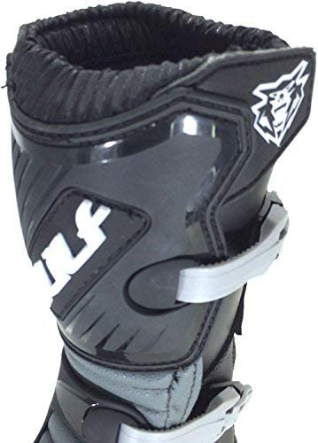 MOTORBIKE WULFSPORT WULF KIDS LA MX ENDURO BOOTS Motorcycle Motocross Cub LA Junior Quad ATV BMX MTB Off Road Sport Racing Armour Boots BLACK