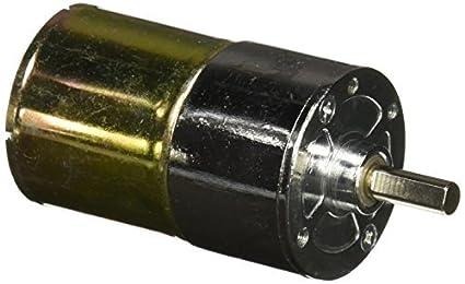 100 rpm Velocidade 6 milímetros diâmetro do eixo 2 Terminais motor engrenado DC 12V