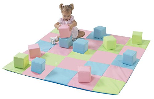 Children's Factory CF321-132P Patchwork Crawly Mat in Pastel, 5