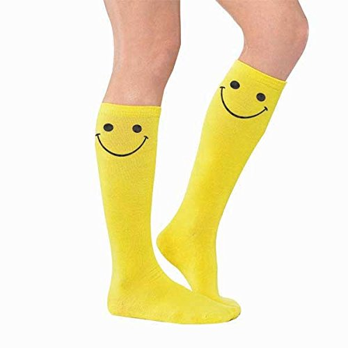 amscan Smiley Face Knee High Socks]()