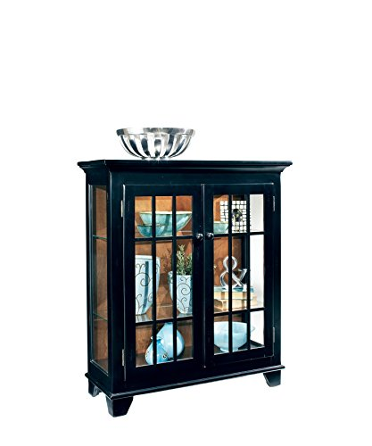 Console Curio Color - Philip Reinisch Co. Color Time Barlow Display Console, Pirate Black Cabinet, Pirate Black Finish
