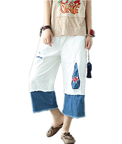 Drawstring Cropped Jeans - 7