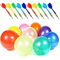 500PCS LovesTown Carnival Games Darts Balloons with 10PCS Darts for Carnival Party Supplies