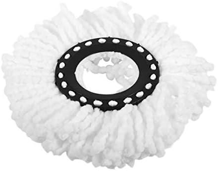 家庭用ソフトマイクロファイバーホームクリーニングフロアモップヘッド360度回転クリーニング交換用フロアモップヘッド-ホワイト