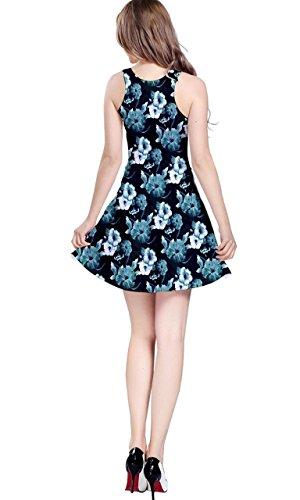 CowCow - Vestido - para mujer Blue Hibiscus