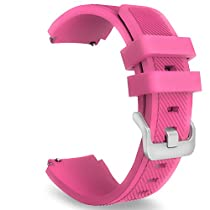Gear S3 Frontier / Classic Watch Band, MoKo Soft Silicone Replacement Sport Strap for Samsung Gear S3 Frontier / S3 Classic / Moto 360 2nd Gen 46mm Smart Watch, NOT FIT S2&S2 Classic&Fit2, Barbie PINK