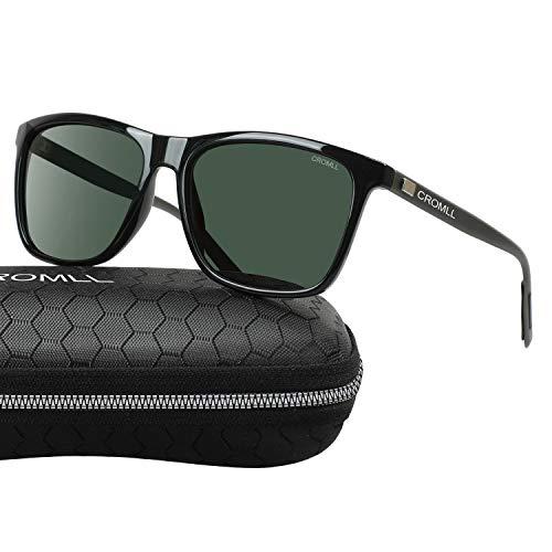 Gray Unisex Sunglasses - Sunglasses CROMLL Unisex Polarized Aluminum Magnesium Sunglasses Vintage Sun Glasses For Men and Women,Green Lens