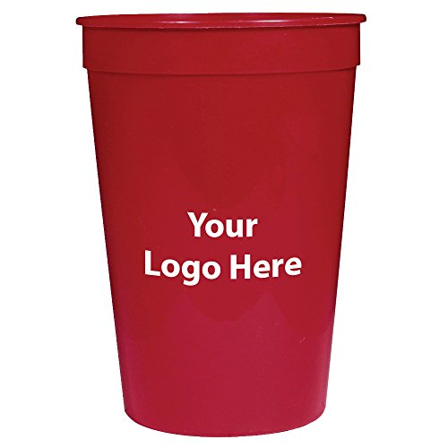 (Personalized Custom Stadium Cups? Smooth Finish - 250 Quantity - $0.60 Each - Bulk Promotional Product with Your Logo/Customized. 16-Ounce)