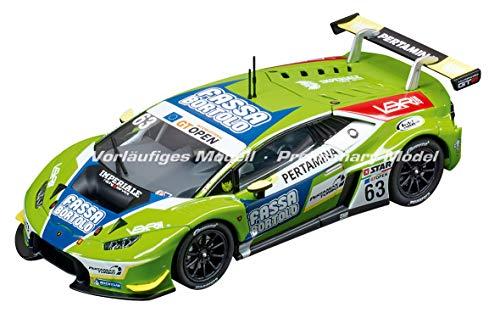 (Carrera USA 20030864 30864 Lamborghini Huracán GT3 Imperiale Racing Team No. 63 1:32 Scale Digital 132 Slot Car Vehicle, Green)