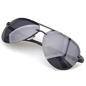 Tansle Mens Oversize Sunglasses Rimless Frame Cool Design TAC Lens