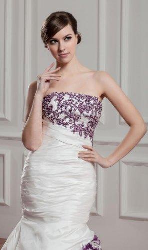 De Beige Sirena Perlas Novia Aplicaciones Bride Croma Boda George Vestidos Vestido Capilla 5xRP0Xvqwq