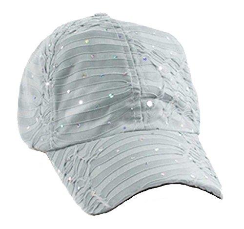 Glitter Sequin Baseball Cap Bling Bling Cap or Hat (Gray) ()