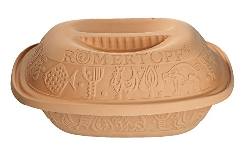 Romertopf by Reston Lloyd Classic Series Glazed Natural Clay Cooker, Medium (Round Bread Loaf)