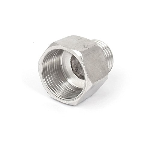 uxcell 3/4BSP Female to 1/2BSP Male Thread Pipe Fitting Coupler Connector