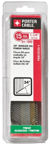 PORTER-CABLE PDA15125-1 1-1/4-Inch, 15 Gauge Finish Nails (1000-Pack) by PORTER-CABLE