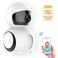 HD IP Camera - Wireless IP Camera with Two-way Audio, Night Vision Camera, 2.4GHz 1080P Camera for Pet Baby Monitor, Home Security Camera Motion Detection Indoor Camera with Micro SD Card Slot