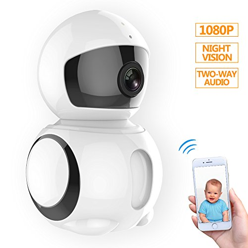 Wireless Camera 1080P Hd Wifi Ip Camera Privacy Security Camera With Two Way Audio  Red Light Night Vision Surveillance Camera  Smart Wide Angle 185 Degree Rotation P2p Motion Detection Came