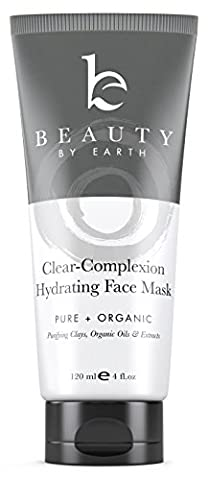 Facial Mask Hydrating Face Clay Treatment; with Natural and Organic Ingredients for Acne, Deep Pore Cleansing Blackhead Removal, Purifying and Firming; Men, Women, Teen, Dry, Oily or Sensitive - Best Clay Mask