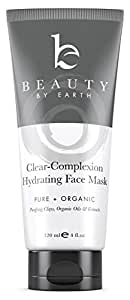 Facial Mask Organic All Natural Ingredients: A Hydrating Face Clay Treatment that is Pore cleansing, blackhead reducing, skin tightening for men and women. Uses Natural clays and Algae to deep clean