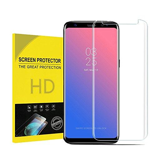 pour Galaxy S8 Verre Trempé, OMOSMAX 9H[sans Bulles d'air][Anti Rayures][Ultra Résistant Dureté]Film Protection en écran Protecteur Vitre pour Samsung Galaxy S8