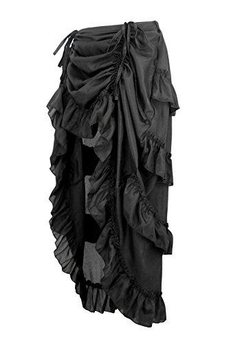 Charmian Women's Steampunk Gothic High Low Cyberpunk Skirt 5