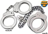 Takedown Police Edition Professional Double Locking Handcuffs and Leg Cuffs Set Silver