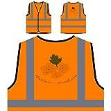 Missouri Hawthorn Personalized Hi Visibility Orange Safety Jacket Vest Waistcoat n385vo