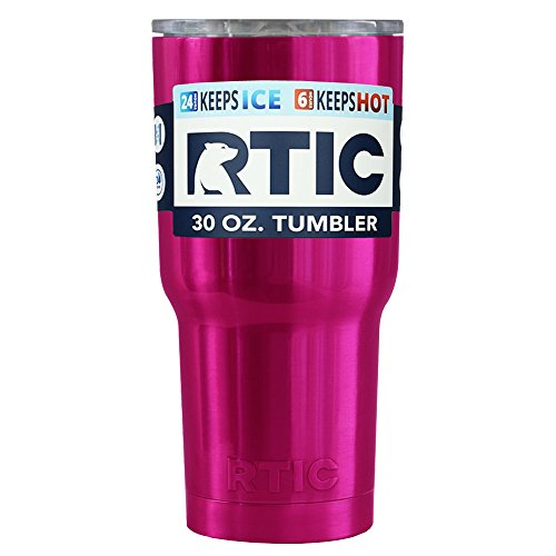 RTIC Hot Pink Translucent 30 oz Stainless Steel Tumbler Cup