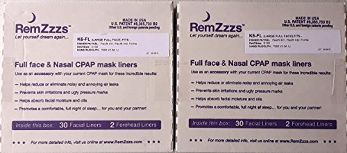 431 Full Face Mask (RemZzzs CPAP Mask Liners - 2-Pack - 60 Nights Supply (Fits the following Full Face masks: FISHER PAYKEL FLEXIFIT 431 - FISHER PAYKEL FLEXIFIT 432 - FISHER PAYKEL FORMA - ZZZ-PROBASICS FULL FACE))