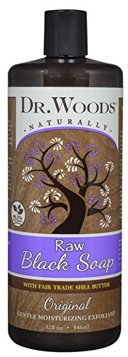 Dr. Woods African Raw Black Vegan Liquid Body Wash with Organic Shea Butter, 32 Ounce (Dr Woods Black Soap With Organic Shea Butter)