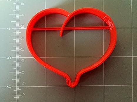 Globo de plástico en forma de corazón cortador de galletas: Amazon ...