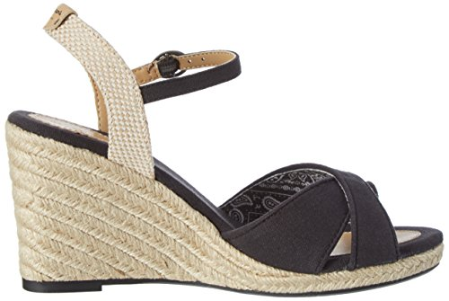 Pepe Jeans London Shark Basic, Sandalias Para Mujer Negro (Black)