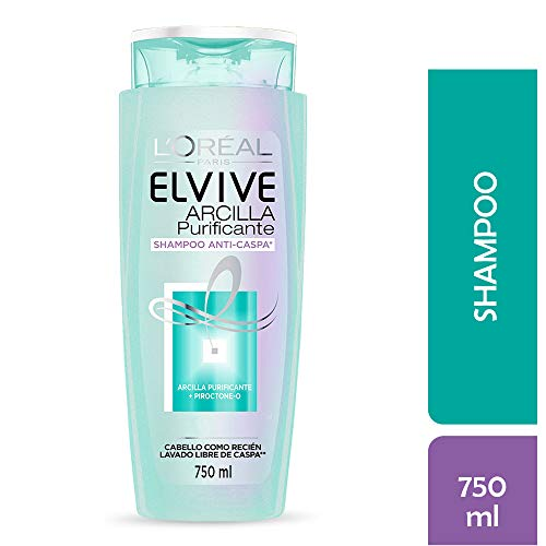 Shampoo Arcilla Purificante Anticaspa Elvive L'Oréal Paris 750 ml