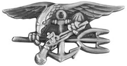 US Navy SEAL Trident Pin (antique silver, 1 1/2