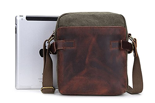 Para Mensajero bug 22 Lona Flocc Apricot Bolsa 25cm 7 Escuela De Green Hombre Bolso Izacu x1qpYZw