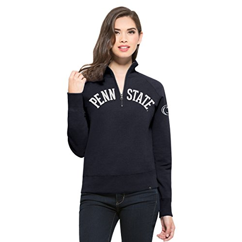 NCAA Penn State Nittany Lions Women's 47 Cross Check 1/4-Zip Pullover Jacket, Medium, Fall Navy
