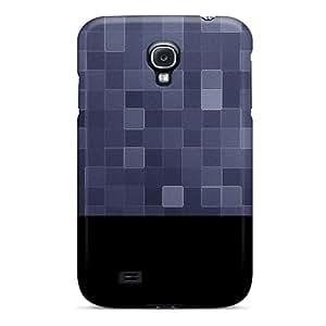 New Tpu Hard Case Premium Galaxy S4 Skin Case Cover(purple Squares Texture)