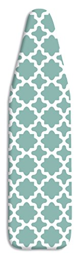 Whitmor Deluxe Replacement Ironing Board Cover and Pad - Concord Turquoise (54 Cover Ironing 18 X Board)