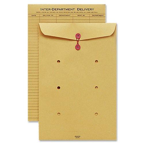 Sparco Inter-Department Envelope, String Closure, 10 x 15 Inches, Kraft (SPR01376)
