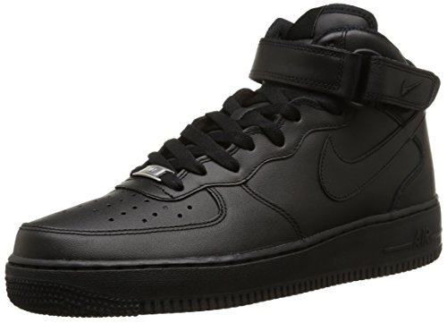 Nike Air Force 1 Mid '07 Black (All Black High Top Air Force Ones)