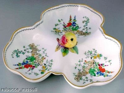 (c1936 Plant Tuscan China Trefoil Pear form Handle Floral )