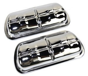 EMPI 8905 CHROME VALVE COVER, PAIR, VW VOLKSWAGEN BUG, BEETLE, TYPE 3, GHIA, BUS, BAJA, SAND RAIL (Bug Baja Volkswagen)