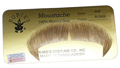 [2028 (Blonde) Winchester Mustache] (Brown Mustache And Beard Costume)